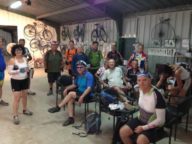 ביקור של קבוצת רוכבים